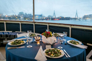 Charles River Boat Wedding Table Setting
