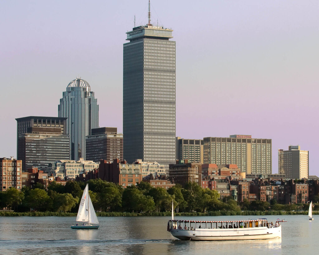 Charles River Boat Boston City View